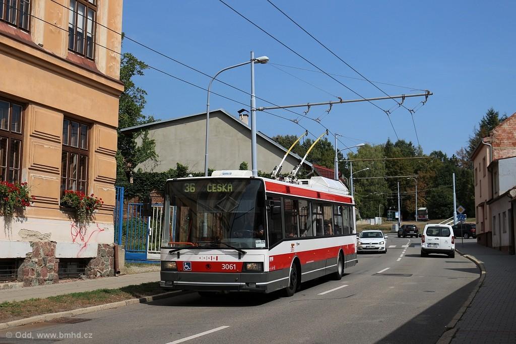 Fotogalerie » Škoda 21TrIGCT 3061 | Brno | Komín | Chaloupky