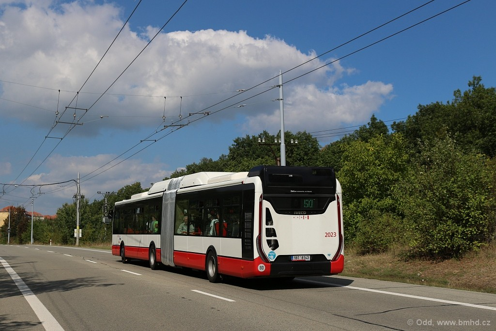 Fotogalerie » Iveco Urbanway 18M CNG 1BT 8143 2023 | Brno | Kohoutovice | Chironova