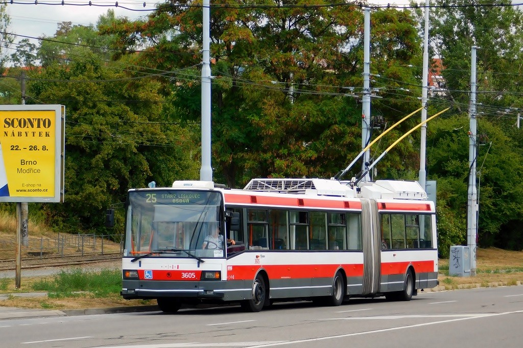 Fotogalerie » Škoda 22Tr 3605 | Brno | Líšeň | Novolíšeňská