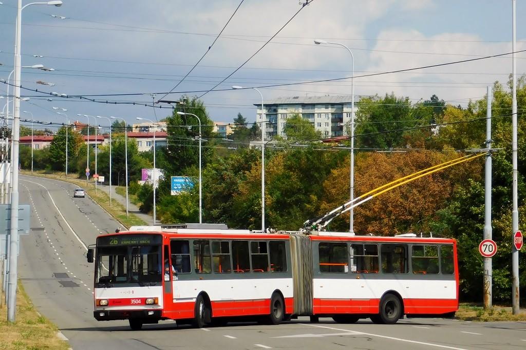 Fotogalerie » Škoda 15TrM 3504 | Brno | Líšeň | Novolíšeňská | Novolíšeňská, smyčka