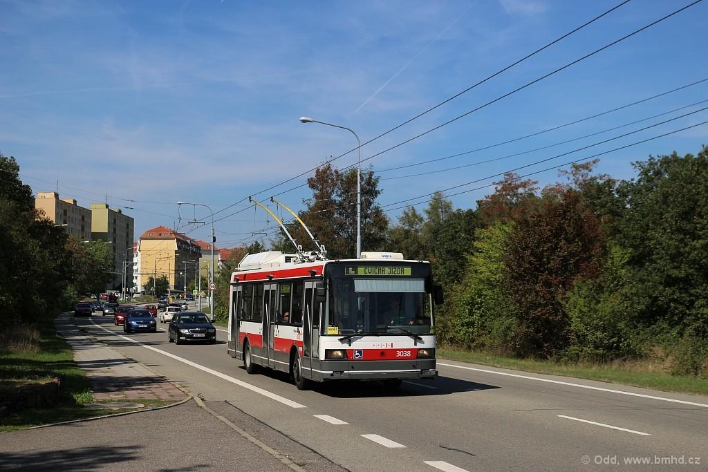 Fotogalerie » Škoda 21Tr 3038 | Brno | Kohoutovice | Chironova