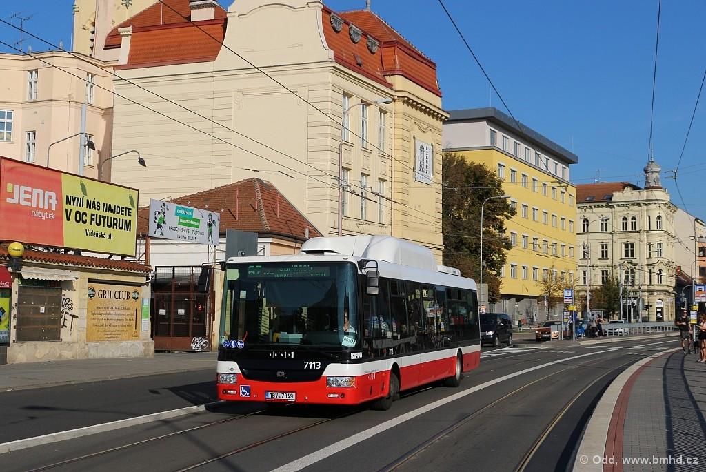 Fotogalerie » SOR NBG 12 1BV 7849 7113 | Brno | Trnitá | Křenová