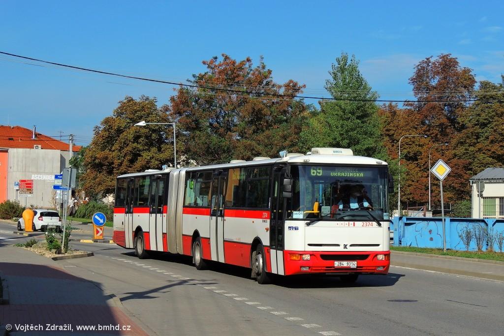 Fotogalerie » Karosa B961E.1970 2B4 9314 2374 | Brno | Bosonohy | Pražská