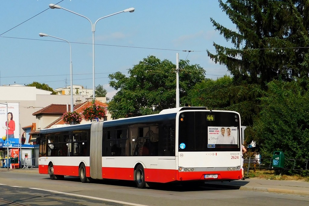 Fotogalerie » Solaris Urbino 18 III 9B7 9132 2624 | Brno | Černá Pole | Merhautova | Štefánikova čtvrť