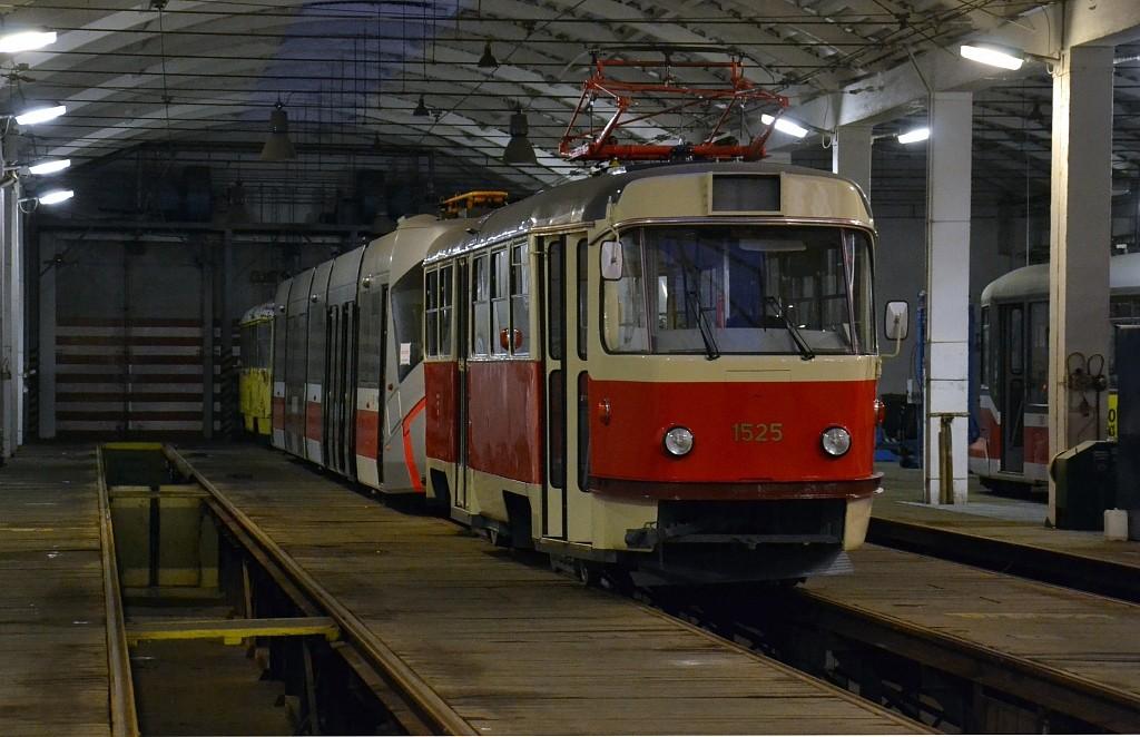Fotogalerie » ČKD Tatra T3 1525 | Brno | Medlánky | Vozovna Medlánky