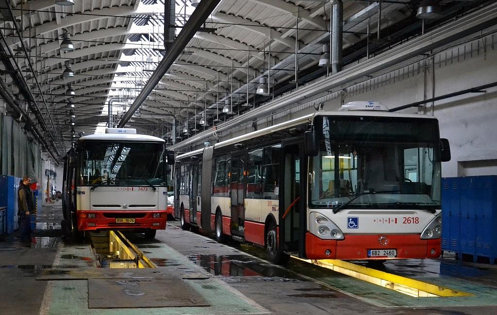 Fotogalerie » Karosa B931E.1707 BSH 16-74 7473 | Irisbus Citelis 18M 6B2 2460 2618 | Brno | Medlánky | Vozovna Medlánky