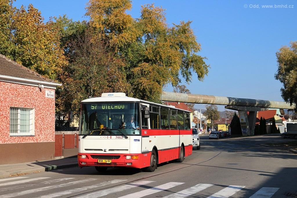 Fotogalerie » Karosa B931E.1707 BSH 14-57 7463 | Brno | Maloměřice | Karlova