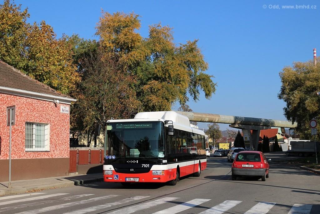 Fotogalerie » SOR NBG 12 1BV 7837 7101 | Brno | Maloměřice | Karlova