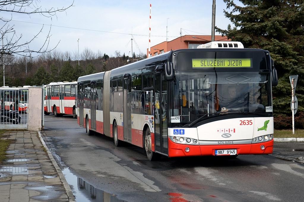 Fotogalerie » Solaris Urbino 18 III 9B7 9145 2635 | Brno | Slatina | Hviezdoslavova | Vozovna Slatina