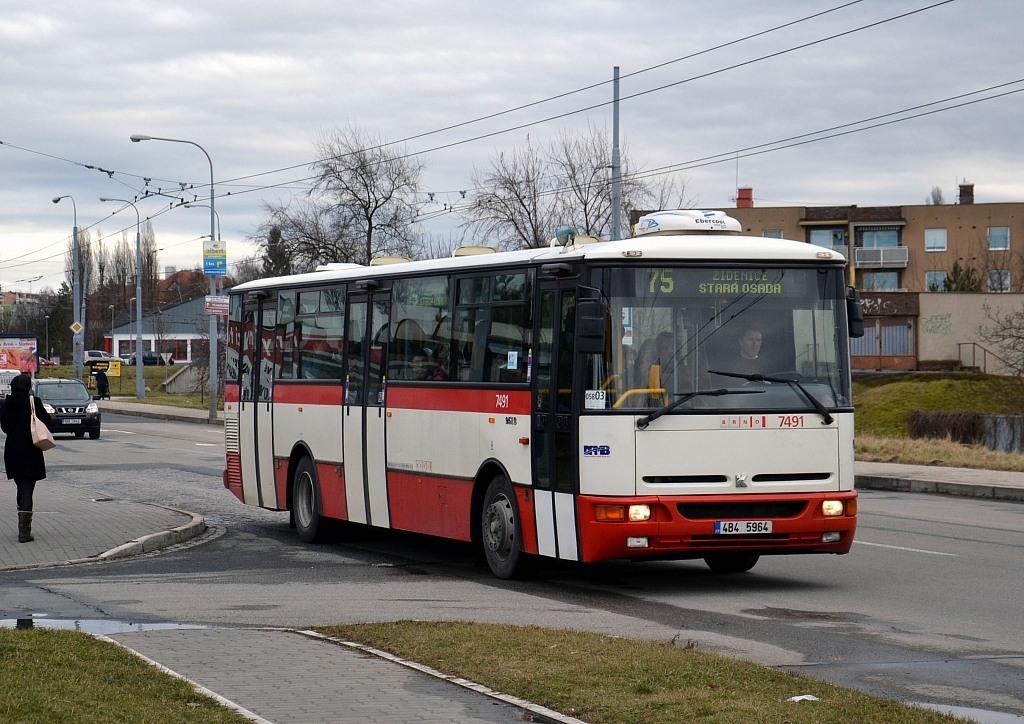 Fotogalerie » Karosa B951E.1713 4B4 5964 7491 | Brno | Slatina | Hviezdoslavova | Vozovna Slatina