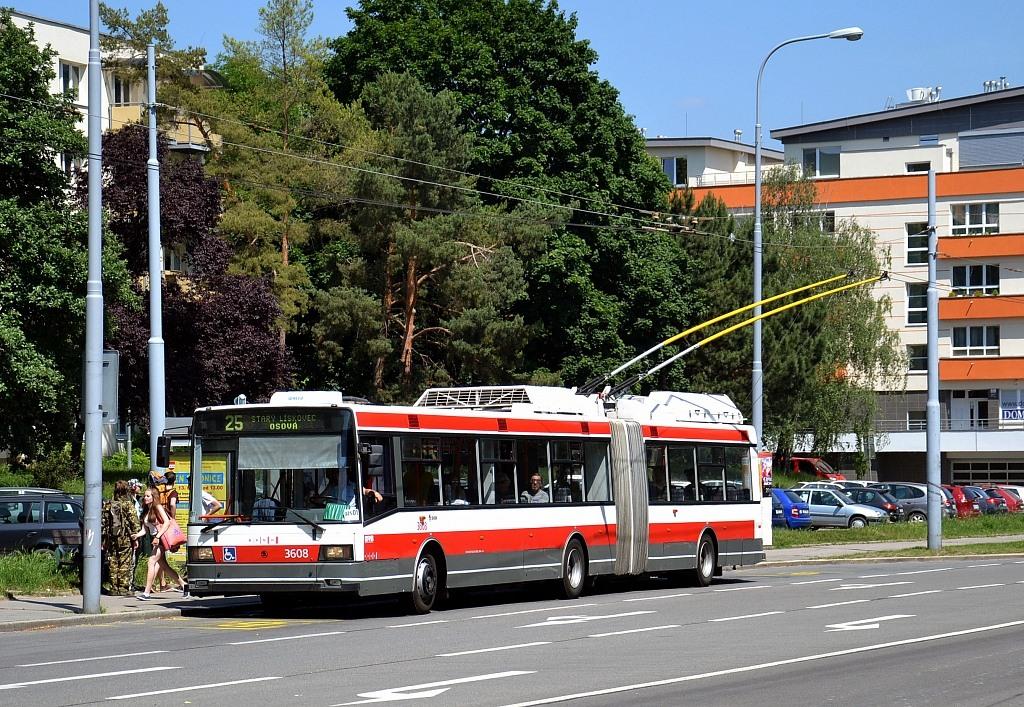 Fotogalerie » Škoda 22Tr 3608 | Brno | Černá Pole | Provazníkova | Merhautova