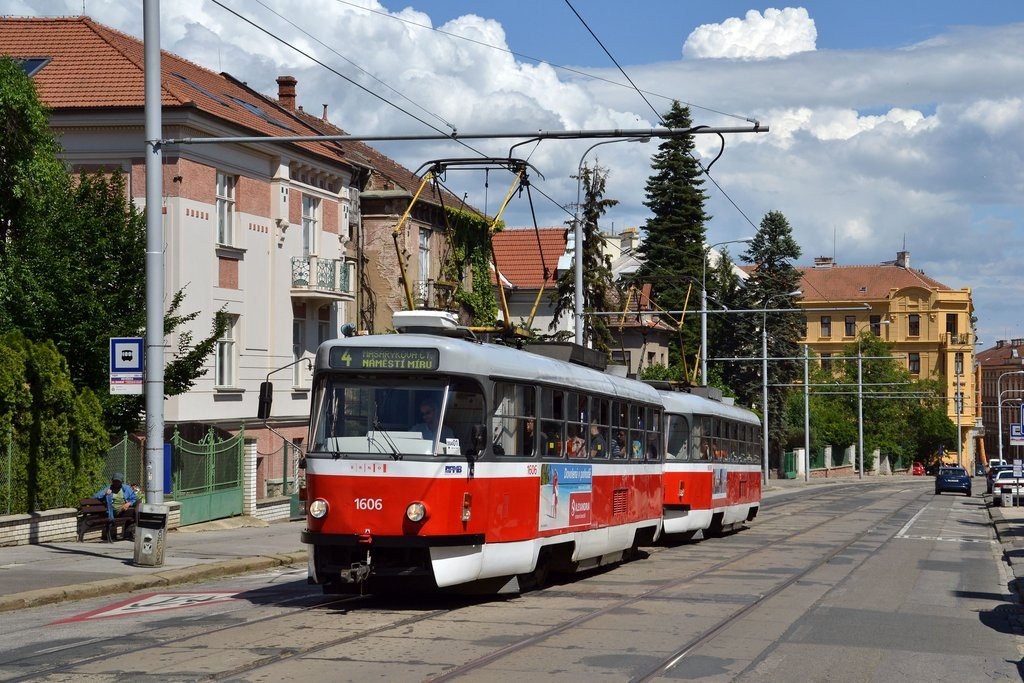 Fotogalerie » ČKD Tatra T3G 1606 | ČKD Tatra T3G 1608 | Brno | střed | Údolní | Všetičkova