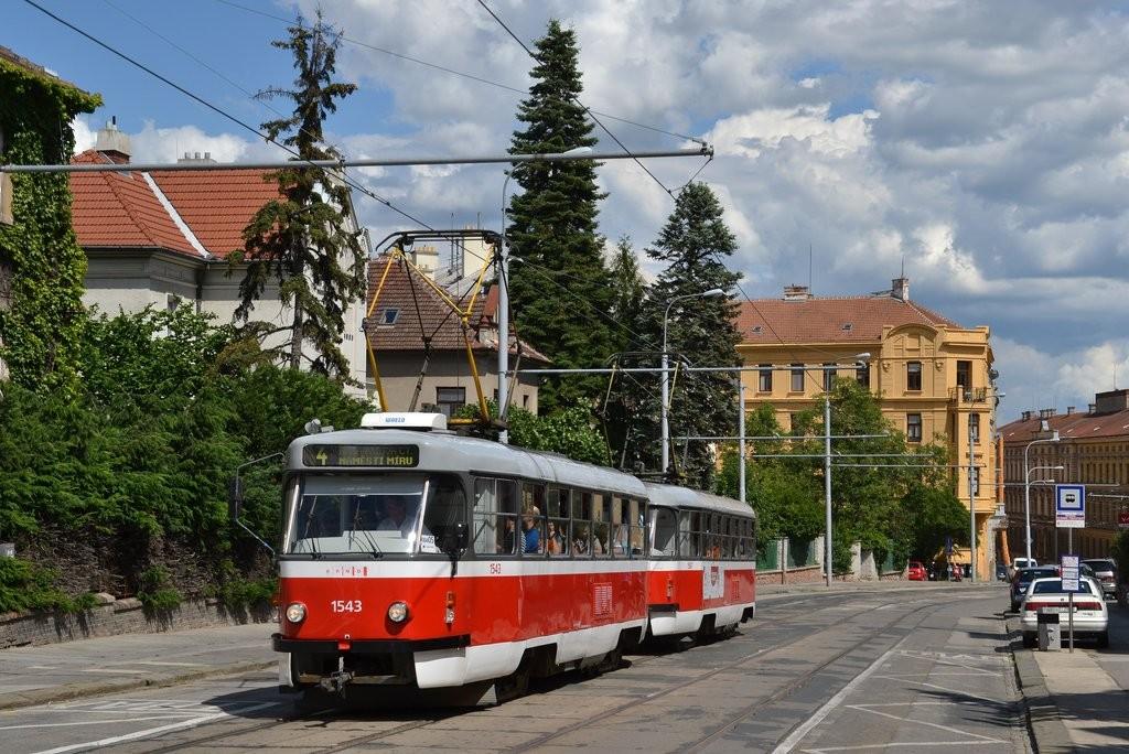 Fotogalerie » ČKD Tatra T3P 1543 | ČKD Tatra T3P 1587 | Brno | střed | Údolní | Všetičkova