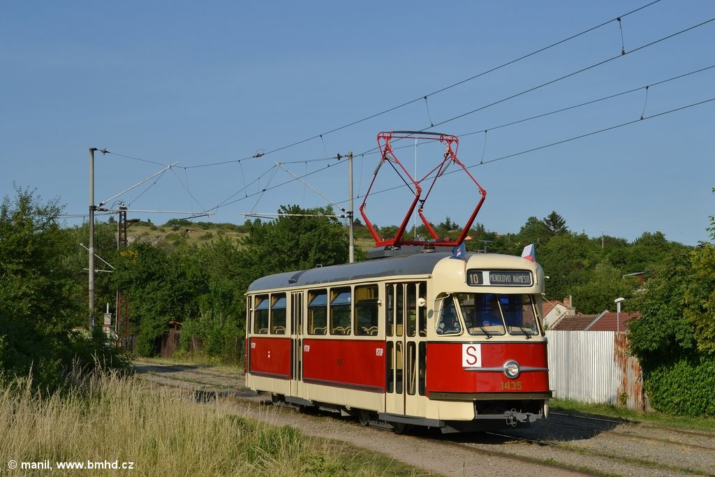 Fotogalerie » Tatra T2 1435 | Brno | Slatina | Podstránská