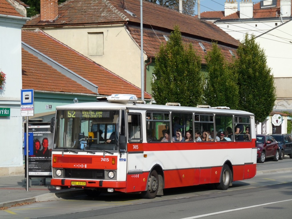 Fotogalerie » Karosa B731.1669 BSC 69-03 7415   Brno   Pisárky   Hlinky   Výstaviště, hlavní vstup