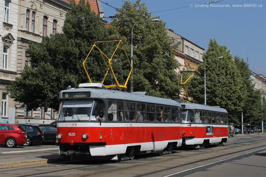 Fotogalerie » ČKD Tatra T3P 1620 | ČKD Tatra T3P 1589 | Brno | Královo Pole | Štefánikova