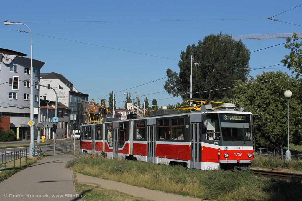 Fotogalerie » ČKD Tatra KT8D5R.N2 1719 | Brno | Židenice | Bubeníčkova