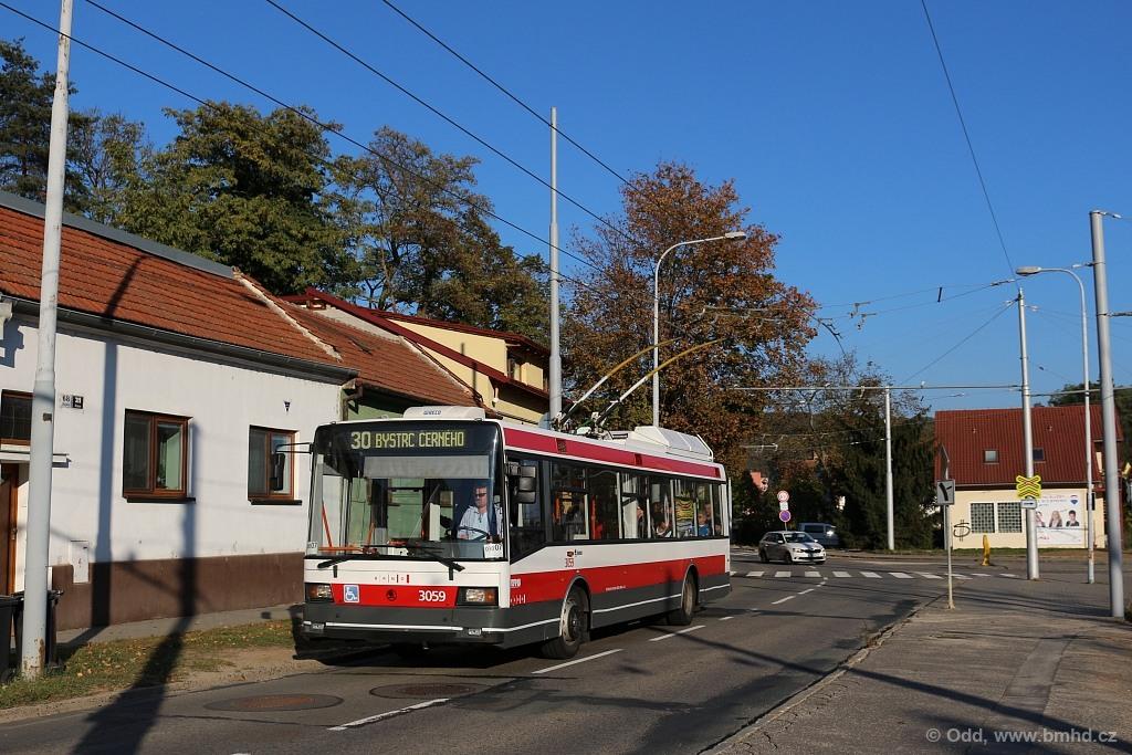 Fotogalerie » Škoda 21Tr 3059 | Brno | Komín | Bystrcká