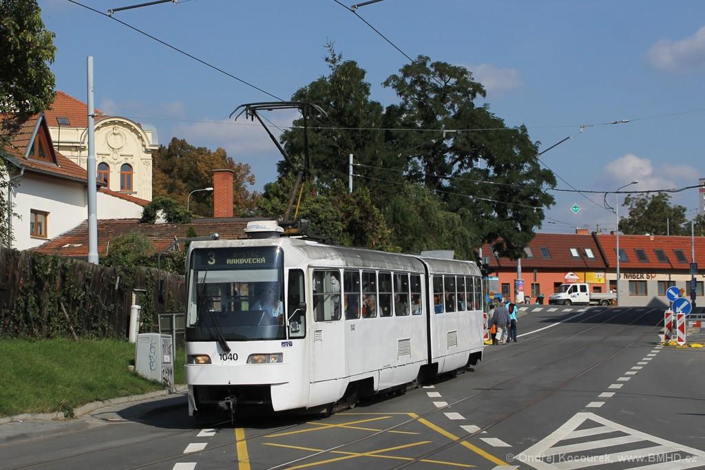 Fotogalerie » ČKD Tatra K2R03-P 1040 | Brno | Žabovřesky | Rosického náměstí