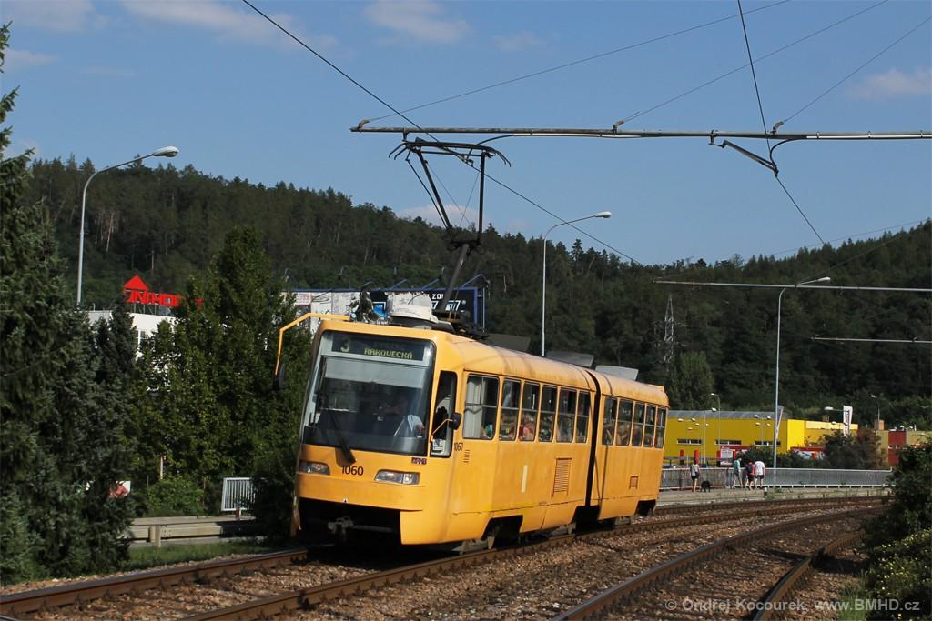 Fotogalerie » ČKD Tatra K2R03 1060 | Brno | Bystrc | Obvodová