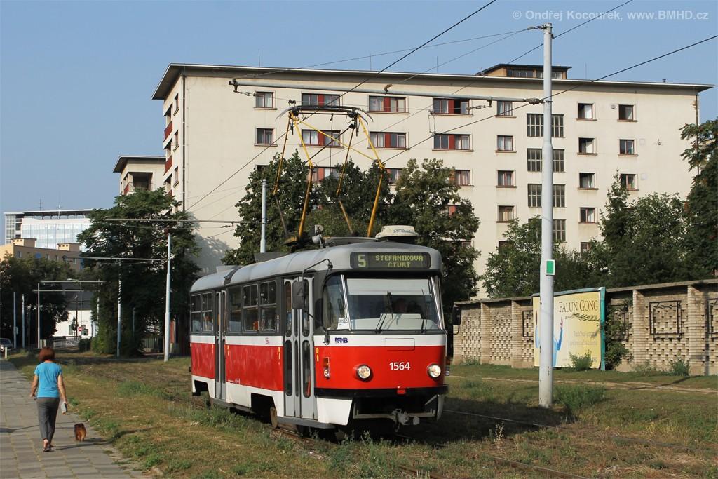 Fotogalerie » ČKD Tatra T3P 1564   Brno   Staré Brno   Veletržní