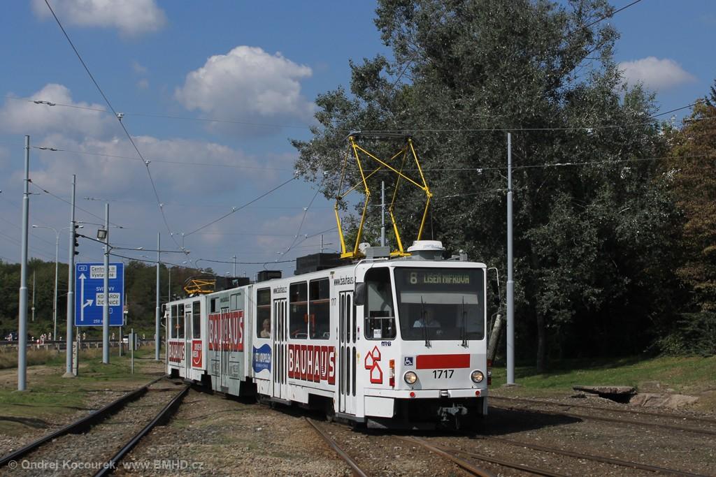 Fotogalerie » ČKD Tatra KT8D5R.N2 1717 | Brno | Židenice | Ostravská