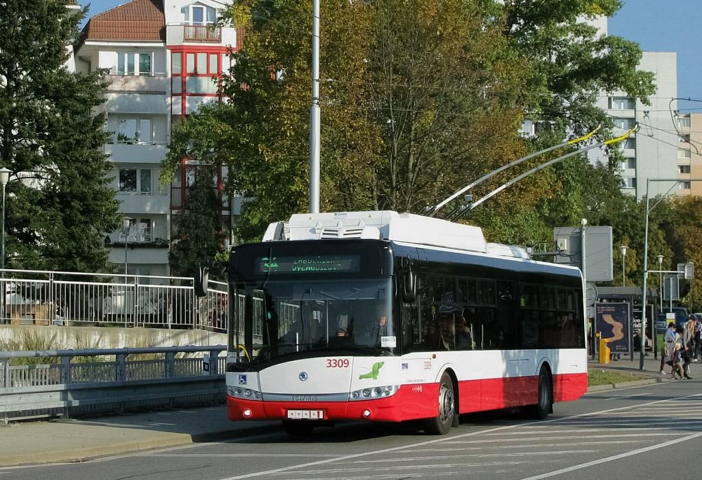 Fotogalerie » Škoda 26Tr 3309 | Brno | Žabovřesky | Korejská | Náměstí Svornosti