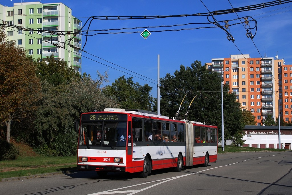 Fotogalerie » Škoda 15TrM 3505 | Brno | Vinohrady | Věstonická