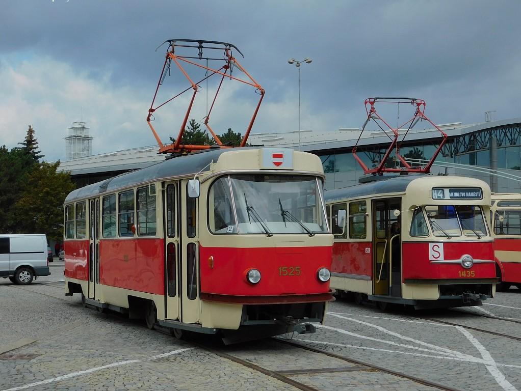 Fotogalerie » ČKD Tatra T3 1525 | Tatra T2 1435 | Brno | Pisárky | Výstaviště BVV