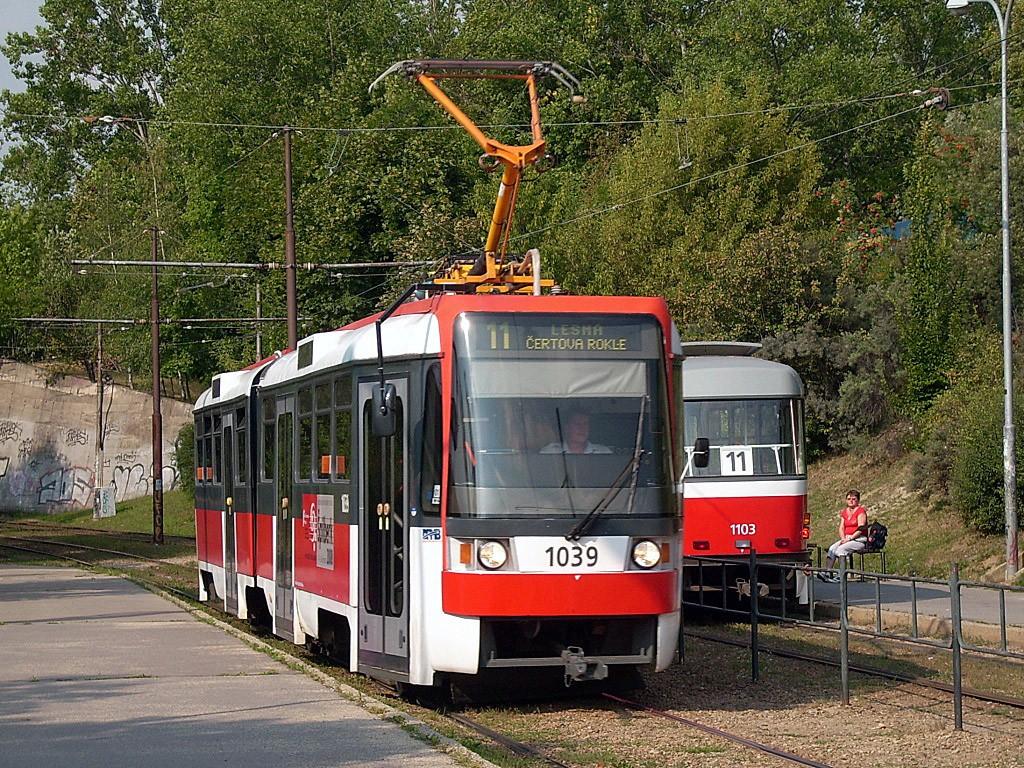 Fotogalerie » ČKD Tatra K2R 1039 | Brno | Bystrc | Přístaviště