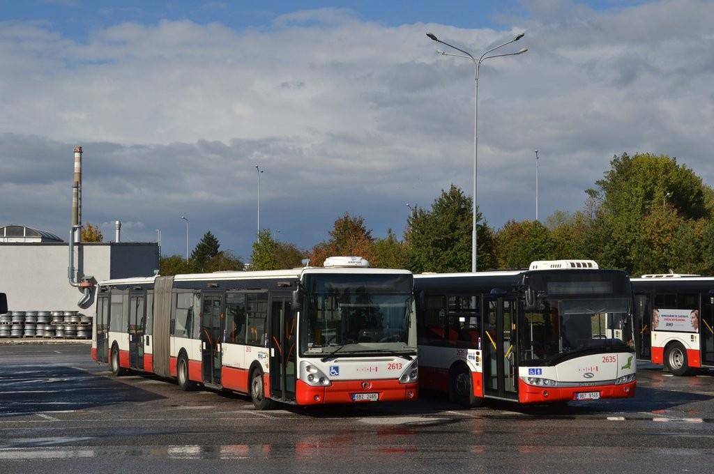 Fotogalerie » Irisbus Citelis 18M 6B2 2465 2613 | Solaris Urbino 18 III 9B7 9145 2635 | Brno | Vozovna Slatina