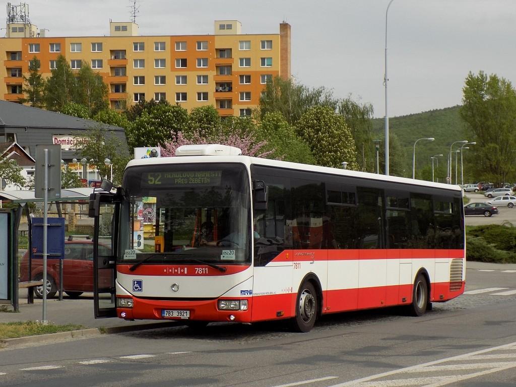 Fotogalerie » Irisbus Crossway LE 12M 7B3 3921 7811 | Brno | Bystrc | Vejrostova | Ečerova