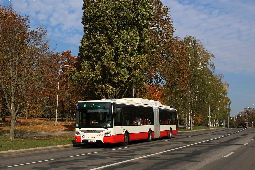 Fotogalerie » Iveco Urbanway 18M CNG 1BZ 9268 2043 | Brno | Lesná | Seifertova