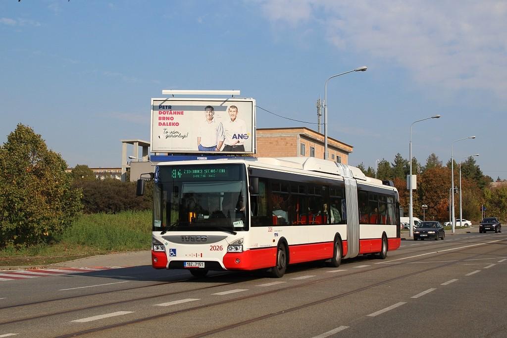 Fotogalerie » Iveco Urbanway 18M CNG 1BZ 7151 2026 | Brno | Černá Pole | Merhautova