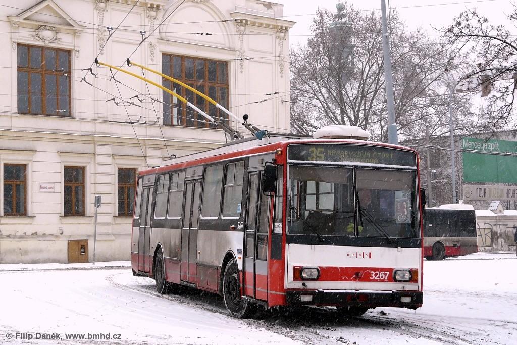 Fotogalerie » Škoda 14TrR 3267 | Brno | Staré Brno | Mendlovo náměstí | Mendlovo náměstí