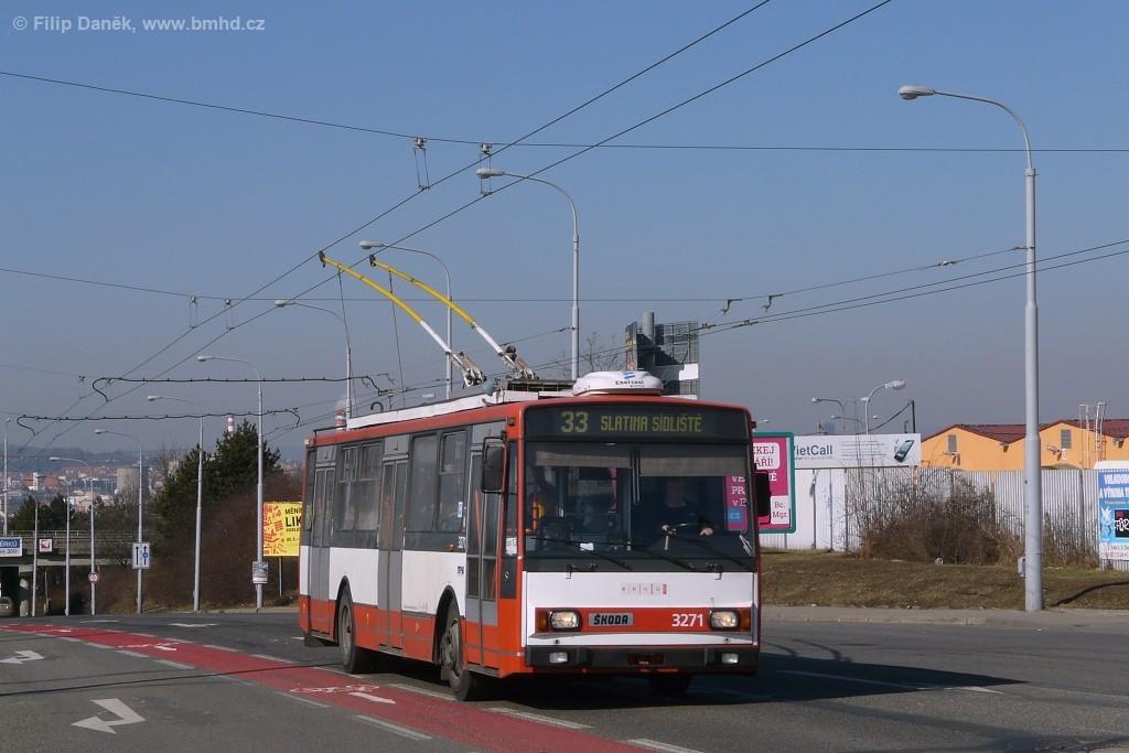 Fotogalerie » Škoda 14TrR 3271 | Brno | Černovice | Olomoucká