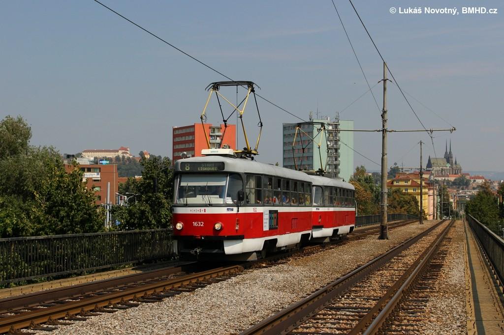 Fotogalerie » ČKD Tatra T3P 1632 | ČKD Tatra T3P 1633 | Brno | Střed | Renneská třída