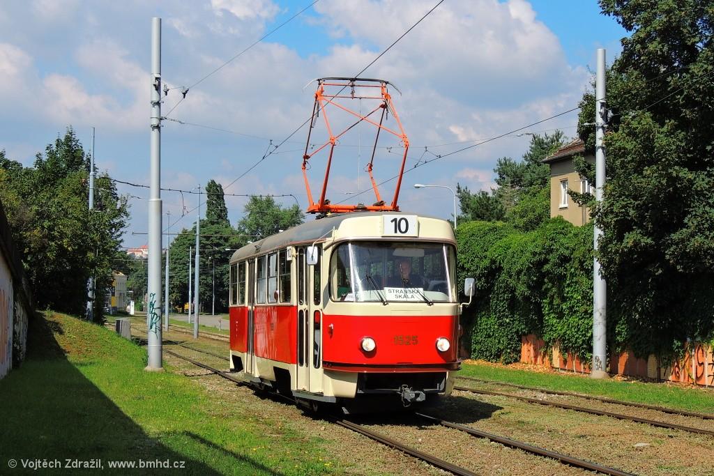 Fotogalerie » ČKD Tatra T3 1525 | Brno | Juliánov | Pod sídlištěm