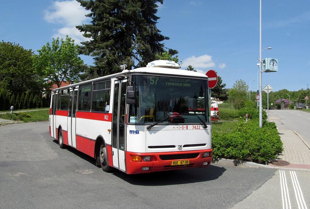 Fotogalerie » Karosa B931.1675 BSE 67-39 7422 | Brno | Útěchov | Adamovská | Útěchov, smyčka