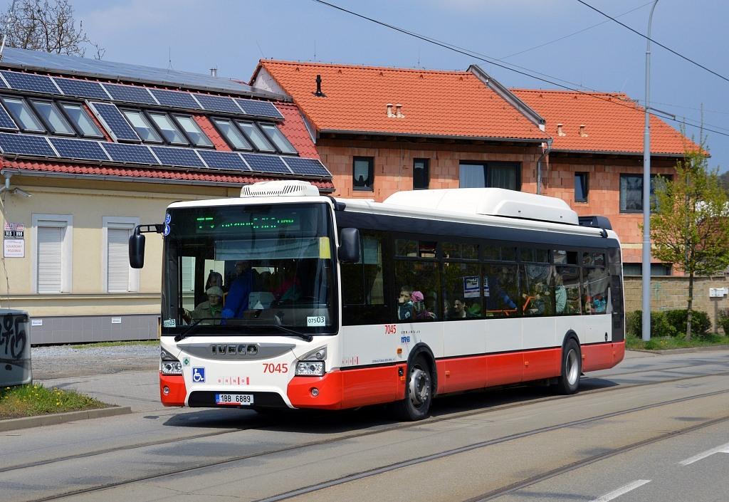 Fotogalerie » Iveco Urbanway 12M CNG 1BB 6889 7045 | Brno | Maloměřice | Obřanská
