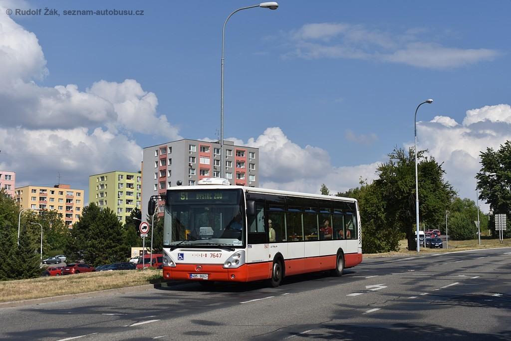Fotogalerie » Irisbus Citelis 12M 4B5 9663 7647 | Brno | Bystrc | Vejrostova