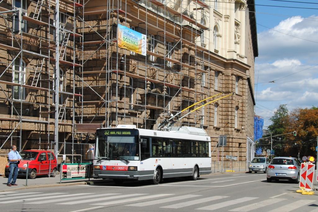 Fotogalerie » Škoda 21TrAC 3057   Brno   střed   Žerotínovo náměstí