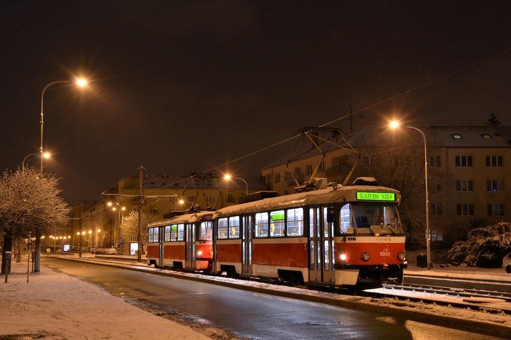 Fotogalerie » ČKD Tatra T3G 1604 | ČKD Tatra T3G 1619 | Brno | Štýřice | Renneská