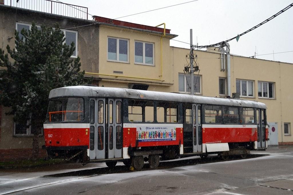 Fotogalerie » ČKD Tatra T3G 1647 | Brno | vozovna Medlánky
