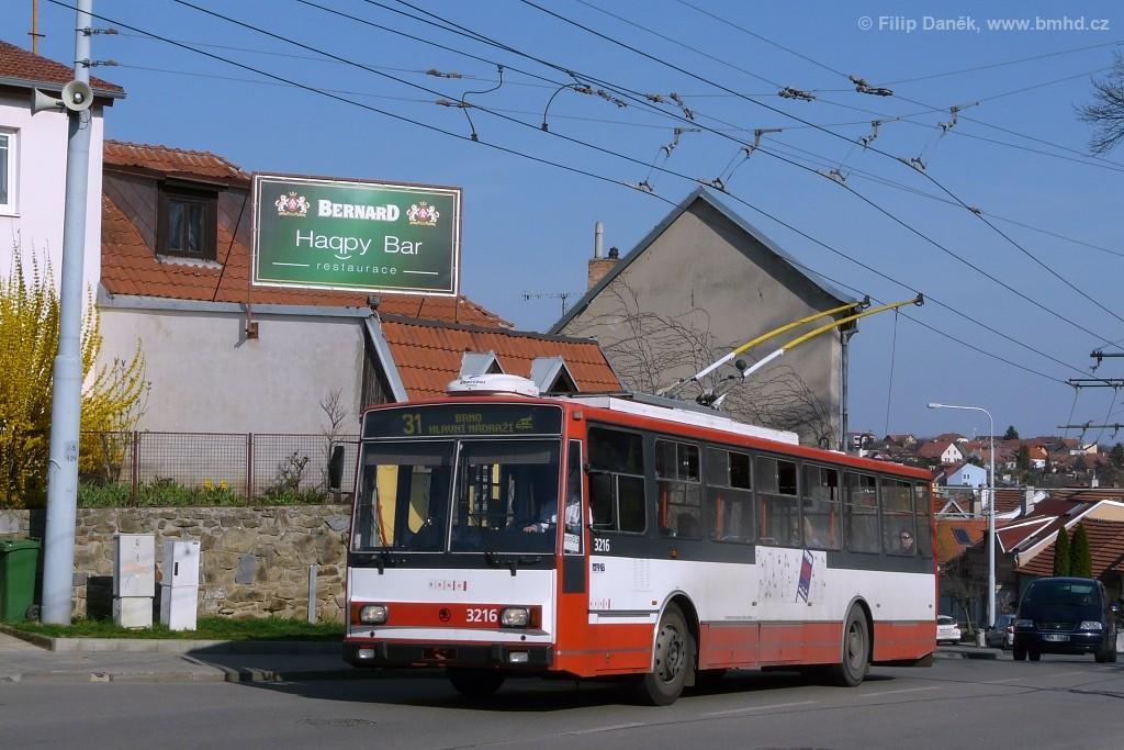 Fotogalerie » Škoda 14Tr08/6 3216 | Šlapanice | Brněnská
