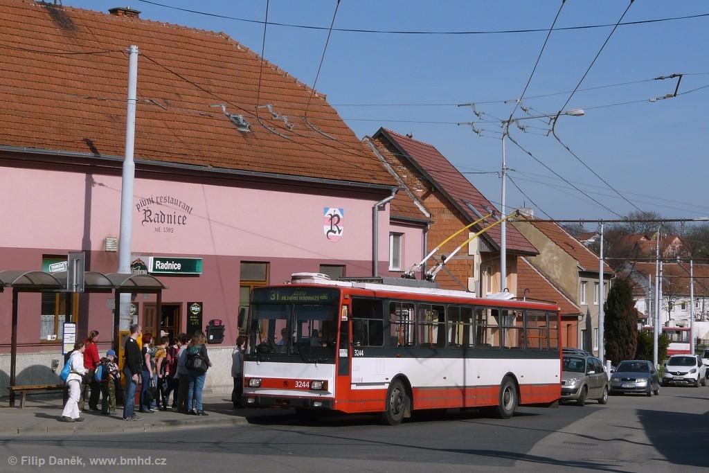 Fotogalerie » Škoda 14TrR 3244 | Šlapanice | Brněnská | Kalvodova