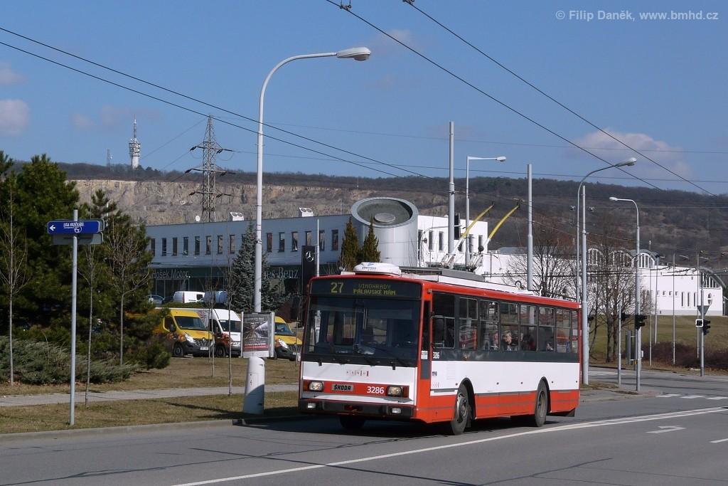 Fotogalerie » Škoda 14Tr17/6M 3286 | Brno | Vinohrady | Bzenecká