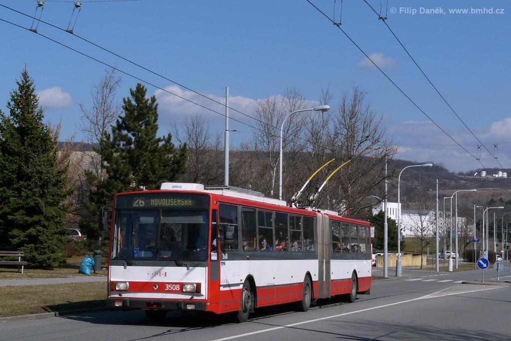 Fotogalerie » Škoda 15TrM 3508   Brno   Vinohrady   Bzenecká