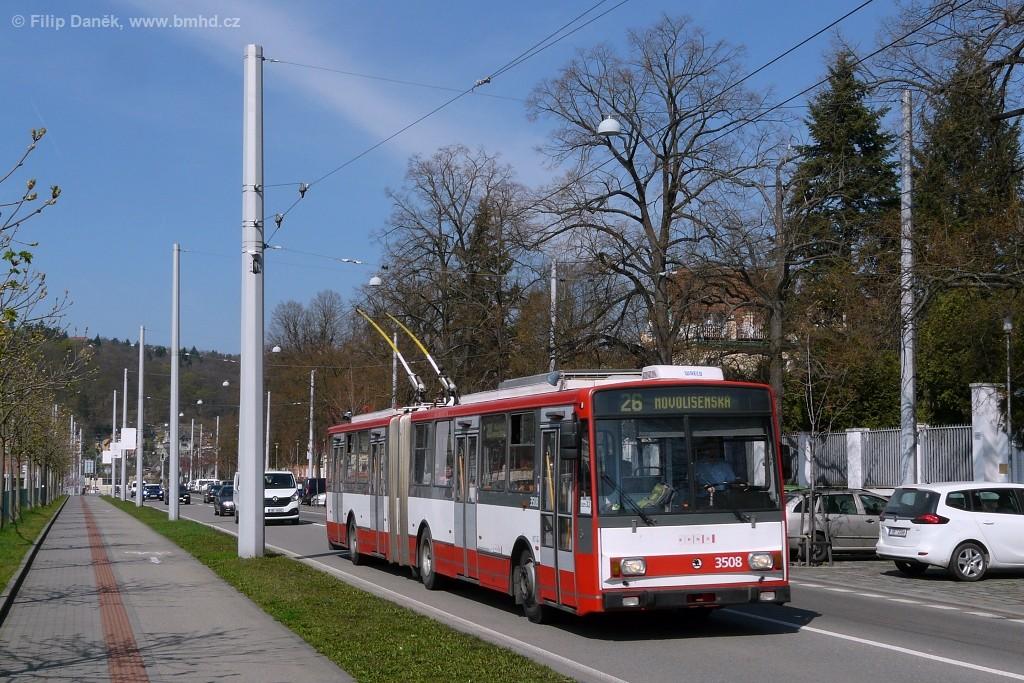 Fotogalerie » Škoda 15TrM 3508   Brno   Pisárky   Hlinky