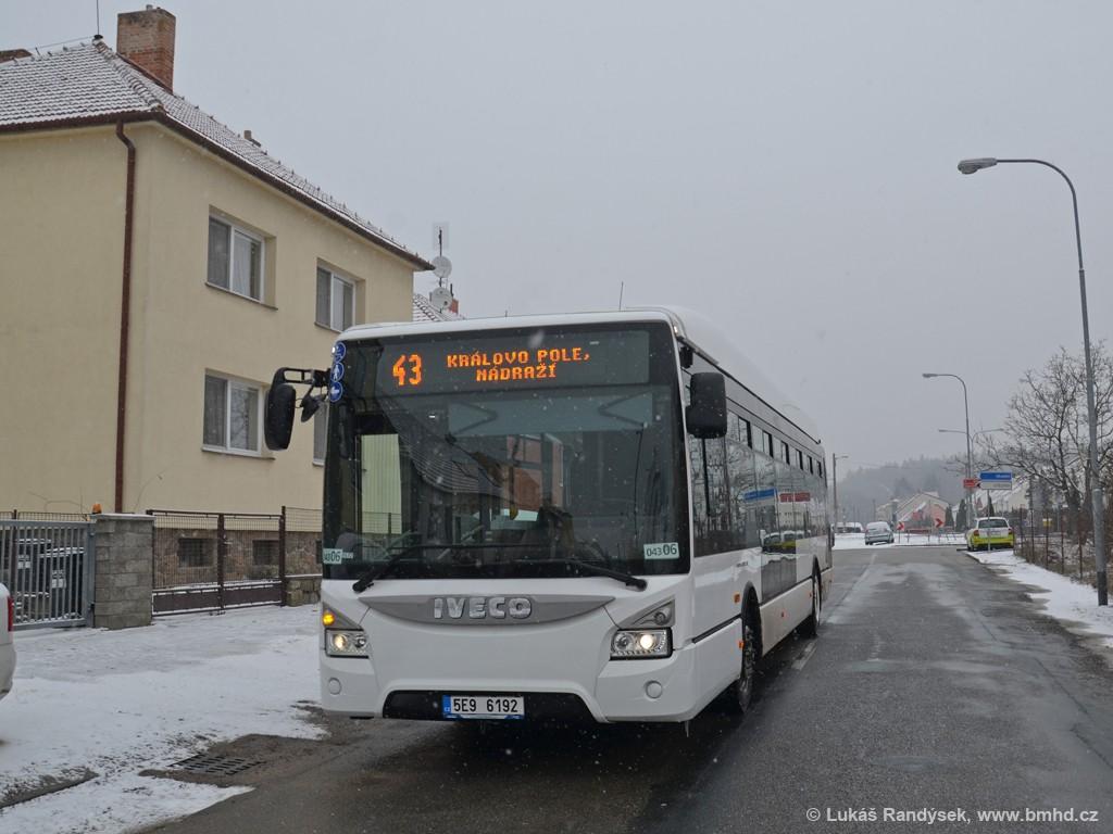 Fotogalerie » Iveco Urbanway 12M 5E9 6192 2721 | Brno | Soběšice | Útěchovská